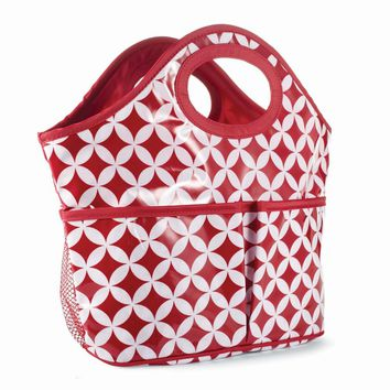 College Days Burgundy/White Medallion Shower Caddy