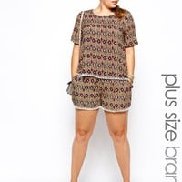Alice & You Folk Print Relaxed Short - Multi