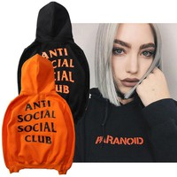 ANTI SOCIAL SOCIAL CLUB Fashion Long Sleeve Cotton Top Sweater Pullover Hoodie