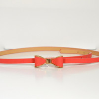 Coral Bow Belt