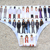 The Beatles Drawings Bikini Bottom Low-Rise Panties