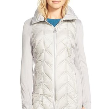 Women's MICHAEL Michael Kors Mixed Media Down Jacket,