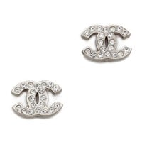 Vintage Chanel Tiny CC Crystal Earrings