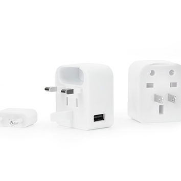 Kikkerland Design Inc » Products » Travel Adapter With USB