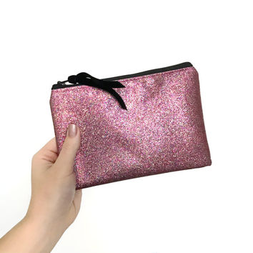 Pink Magic Glitter Cosmetic Bag