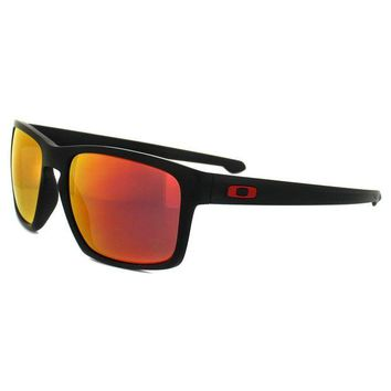 CREY2N Cheap Oakley Sunglasses Sliver OO9262-12 Ferrari Matt Black Ruby Iridium