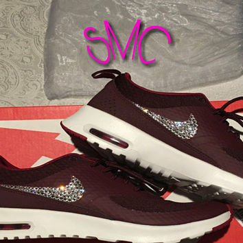 Swarovski Nike Air Max Thea Premium Bling Originals Nike Shoes Custom Shoes Women's Trainers Sneakers Swarovski Crystal Trainers