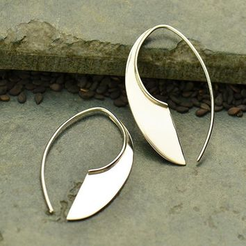 Sterling Silver Machete Earrings