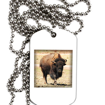 Strong Bison Adult Dog Tag Chain Necklace