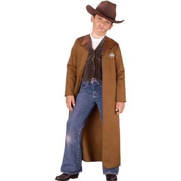 Fun World Little Boy's Med Old West Sheriff Costume Childrens Costume, multi, M