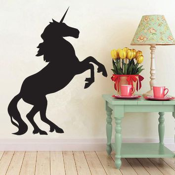 Silhouette Horse Animal Vinyl Wall Stickers Unicorn Horse Animal Wall Decals Cartoon Removable Art Mural Kids Nursery Decor H206