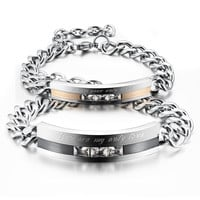 Stylish Shiny Great Deal New Arrival Gift Hot Sale Awesome Couple Gifts Titanium Bracelet With Christmas Gift Box [9509267908]