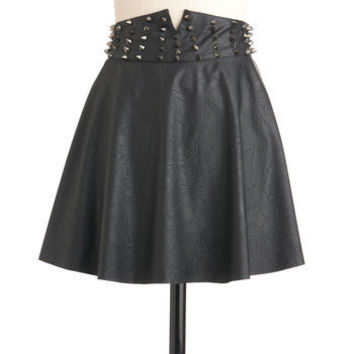 Riveting Rockstar Skirt | Mod Retro Vintage Skirts | ModCloth.com