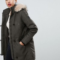 Vero Moda faux fur hooded parka | ASOS
