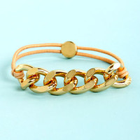 Chain-y Days Peach Bracelet