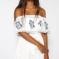 Blakely Dress - White Print