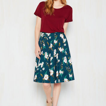 Bliss Is What You Came For Midi Skirt | Mod Retro Vintage Skirts | ModCloth.com
