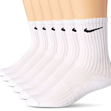 NIKE Boys' Performance Cushion Crew Socks (6 Pair)