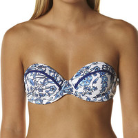 JETS WHIMSICAL UNDERWIRE A-C BUSTIER BANDEAU SEPARATE TOP - PORCELAIN
