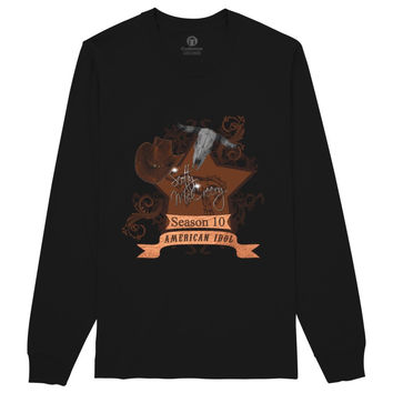 Scotty McCreery Country Style Season 10  Bull Skull Long Sleeve T-shirt