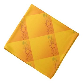 Orange Flower Bandana