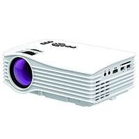 Projector,130 Inch Dihome LCD LED Mini Video Projector Full Color 1080P Home Cinema Theater Multimedia Portable Projector Support HD PC USB HDMI AV -White