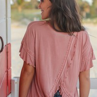 Rose Top with Open Back