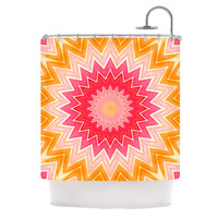 "Iris Lehnhardt ""You are my Sunshine"" Pink Orange Shower Curtain"