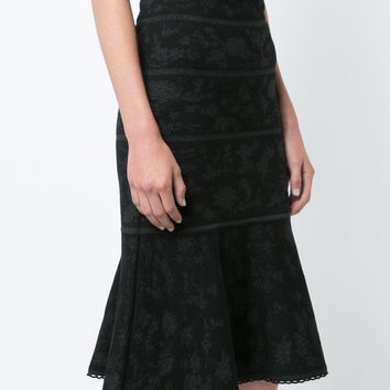 Carolina Herrera Jacquard Trumpet Knit Skirt - Farfetch