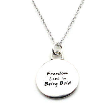 Courage Braille Necklace-B12