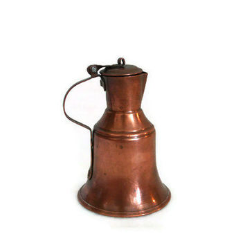 COPPER MILK cream JUG Turkish miniature water pitcher Vintage hand hammered coffee pot Unique decorative metal display