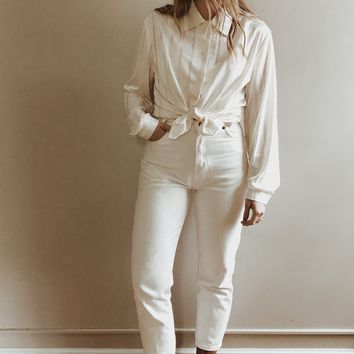 Vintage 1990's Pearly Stripe Blouse