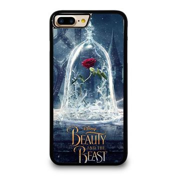 BEAUTY AND THE BEAST ROSE IN GLASS iPhone 4/4S 5/5S/SE 5C 6/6S 7 8 Plus X Case