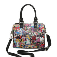 Loungefly Disney Alice In Wonderland Tossed Character Barrel Bag