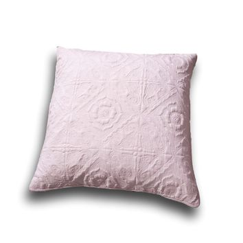 "DaDa Bedding Elegant Country Floral Tea Rose Pink Euro Pillow Sham Cover, 26"" x 26"" (JHW860)"