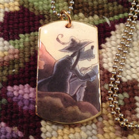 Disney's Goofy as Rip Van Winkle Gold Dog Tag Necklace