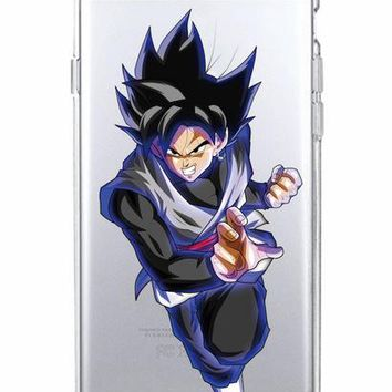 Dragon Ball Super Transparent Solo Cases for iPhone / Samsung Galaxy