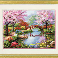 Dimensions Gold Japanese Garden Counted Cross Stitch Kit - TheAngelsNook.com