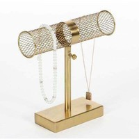 Blonde Colored Bar Jewelry Holder
