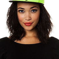 Crooks And Castles 5 Panel Athletica Crest in Neon Yellow