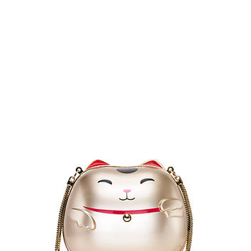Kate Spade Creme De La Creme Good Fortune Bag Gold ONE