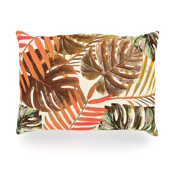 "Alison Coxon ""Jungle Rust"" Orange Brown Oblong Pillow"