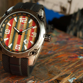 Limited Edition - Recycled Skateboard Watch - Second Shot Skate Watch