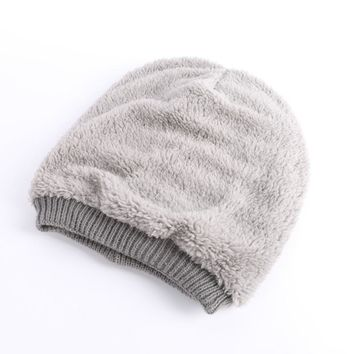 Unisex Cap Skull Knit Winter Women  Men Couple  Cashmere Hip-Hop Beanie Hat Baggy