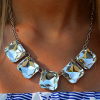 Crystal Springs Necklace: Silver