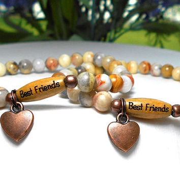 Best Friend Bracelets, Matching Bracelets, BFF Bracelets, Gift for Friend, Best Friend Jewelry, Sister Bracelets, Set of Friend Bracelets