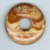 40mm Brown and Cream Swirly PI Donut Pendant