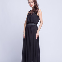 High Waist Wedding Skirt Chiffon Long Skirts Beautiful Elastic Waist Summer Skirt Floor Length Beach Skirt (201) 13#