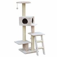 """PetPals Group Ladder and Condo Playhouse Cat Tree, 18"""" L X 18"""" W X 58"""" H 