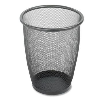 """Safco Products Company Steel Mesh Wastebasket, 5 Gallon, 13""""x14-1-2"""", Black - CASE OF 2"""
